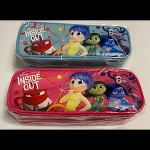 2xDisney Inside Out Zippered Pencil Case Pouch